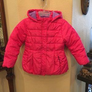 OKIE DOKIE Pink Puffer Jacket w/ Hoodie Size 6Yrs